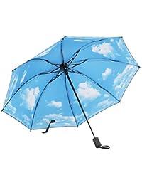 Paraguas/sombrilla anti-ULTRAVIOLETA, creativo y con diseño fantasía. paraguas de sol plegable/paraguas de tres pliegues/paraguas decorado con el cielo estrellado