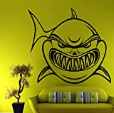 Wandtattoo Moderne Home Decor Cartoon Shark Design Vinyl Wandaufkleber Hohl Heraus Die Umrisse Tiere Wandkunst Tattoos Von Wohnzimmer Zimmer 58X64Cm