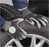 Marigold Puretough P1100leggero resistente al taglio in nylon foderato con rivestimento in maglia cinturino guanto, silicone e volano libera, taglia 10, grigio/nero