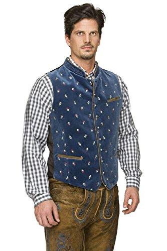 Stockerpoint - Herren Trachten Weste in verschiedenen Farbtönen, Calzado, Größe:56, Farbe:Rauchblau - 3
