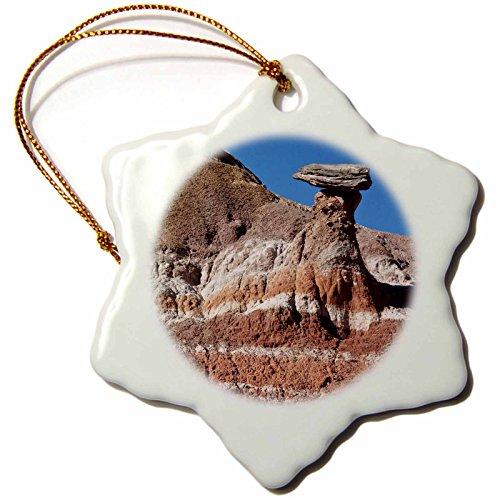 _ 1Texas, Hoodoo, Quartiermeister Rock Formation us44bfr0094Bernard Friel Schneeflocke Porzellan Ornament, 3Zoll (Texas-baum Rock)