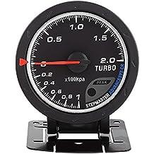Características del producto medidor turbo. Universal 60mm LED Turboalimentado Medidor de Impulso Concha Negra para Coche Carreras 0-200 Kpa