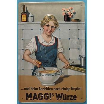 Retro Blechschild 20x30 Maggi Suppen Würze Küche Nostalgie Werbe Plakat