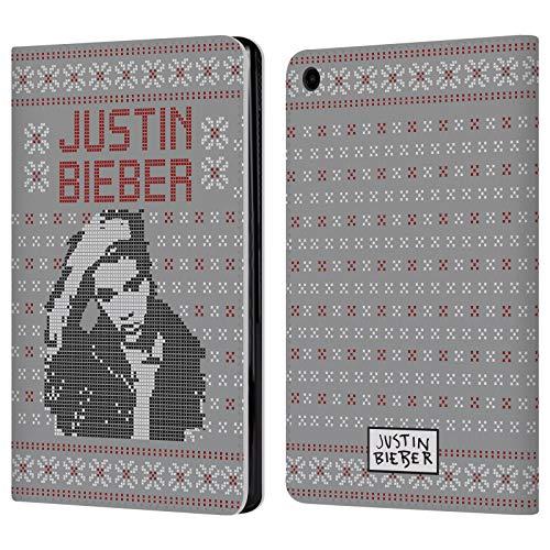 Head Case Designs Ufficiale Justin Bieber Immagine Calendario Natale A Maglia Cover a Portafoglio in Pelle per Amazon Fire HD 8 (2017)
