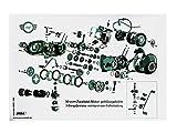 MZA Explosionsdarstellung Farbposter Simson Schwalbe KR51/1, Star SR4-2, 50ccm Zweitakt-Motor, 3 Gang