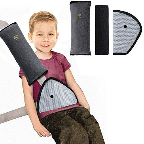 KAIMENG Sicherheitsgürtel für Autositzerhöhung, Sicherheitsgurt, für Kinderautositze, Abnehmbarer Nackenkissen, Sitzbezug