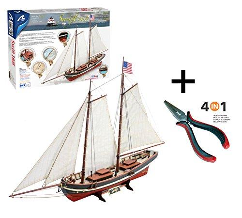 Outletdelocio. Artesania Latina 22110N. Maqueta de barco en madera. Swift 2016 + Multiherramienta 4 en 1. 35736/36054