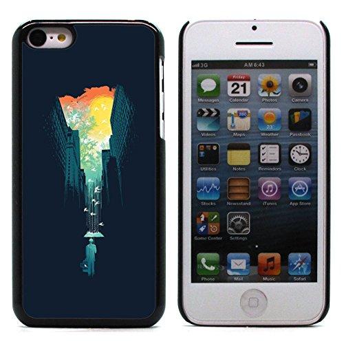 Graphic4You Curves On Canvas Digital Art Muster Design Harte Hülle Case Tasche Schutzhülle für Apple iPhone 5C Design #6