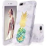 GopeE IPhone 7 Plus Case,iPhone 8 Plus Case, Marble Design Clear Bumper TPU Soft Case Rubber Silicone Skin Cover For IPhone 7 Plus (2016)/iPhone 8 Plus (2017) - B07H1HBKTF