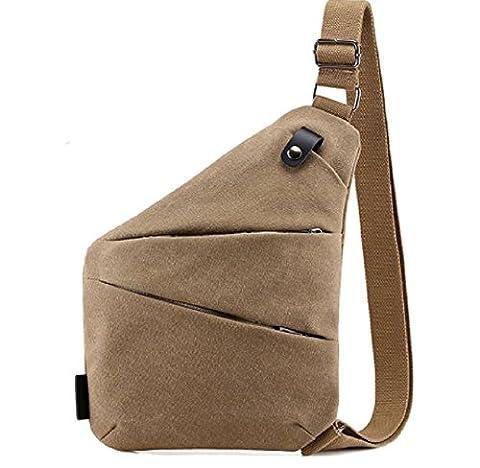sac de poitrine hommes,sac en toile,Épaule simple /messenger bag, sport-Khaki