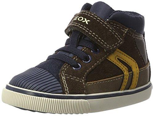 Braun Kid Suede Stiefel (Geox Baby Jungen B Kiwi Boy A Sneaker, Braun (Chestnut/Navy), 26 EU)