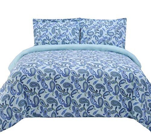 marrikas Flanell Bettbezug Set blau Paisley Twin - Paisley Twin-set