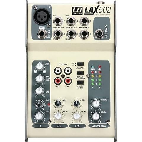 LD Systems LDLAX502 Série LAX Console de Mixage avec Alimentation Fantôme 5 (Mixer Sound System)