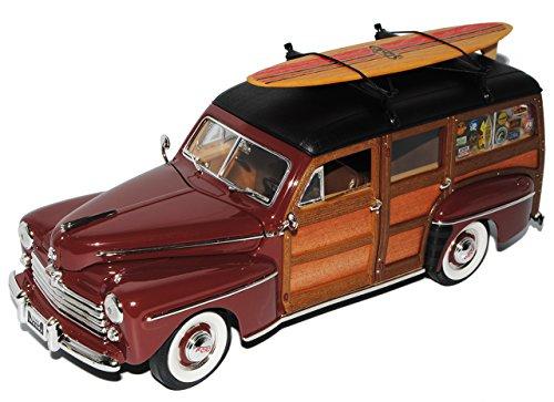 Ford Woody Burgund Rot Braun Signature 1/18 Yatming Modell Auto