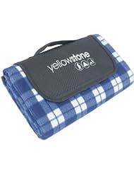 amarillostone luxury forro polar picnic mantilla tartan azul