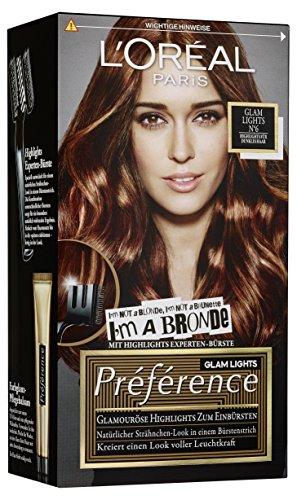 L\'Oréal Paris Préférence, 6 - Highlights für dunkles Haar, 3er Pack (3 x 1 Stück)