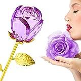 ZJchao bañados en oro de 24 K rosas del día de San Valentín regalos rosa de cristal flores Creative Gifts For Girlfriends Wives