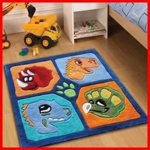 Childrens Rugs Dinosaure 90 x 90 cm Idéal pour Les Petits garçons Chambre à Coucher Bon Marché et Abordable Haute qualité Rugs