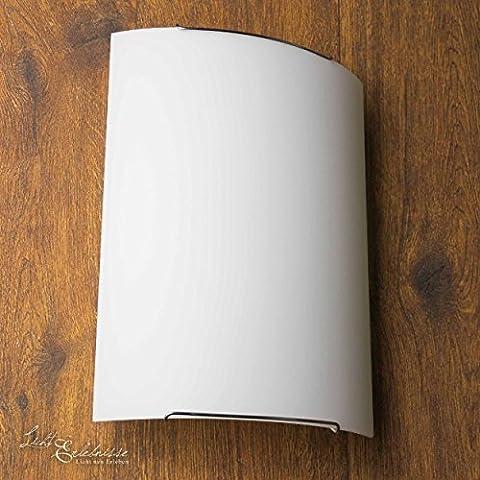 Tolle Wandleuchte in Weiß Zeitloses Design inkl. 1x 12W E27 LED 230V Wandlampe aus Glas für Wohnzimmer Schlafzimmer Lampen Leuchte innen