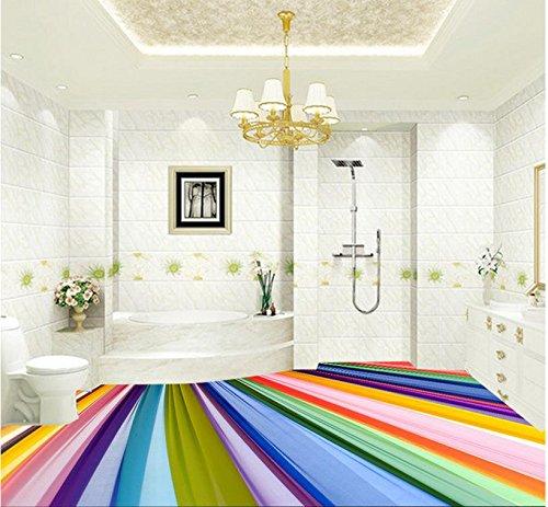 Chlwx 400cmX280cm (157.5inX110.206in) 3D Bodenbeläge Moderne Und  Farbenfrohe Regenbogen Bunte Wohnzimmer 3D Boden Pvc Bodenbeläge Tapeten  Home Decoration