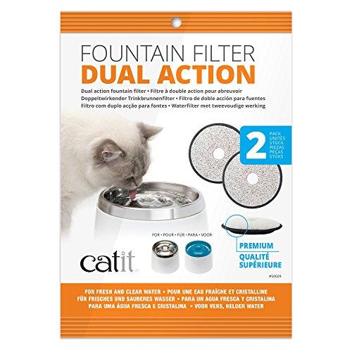 """Catit Premium Ersatzfilter 2er-Pack für die Catit \""""Fresh & Clear\"""" Trinkbrunnen"""