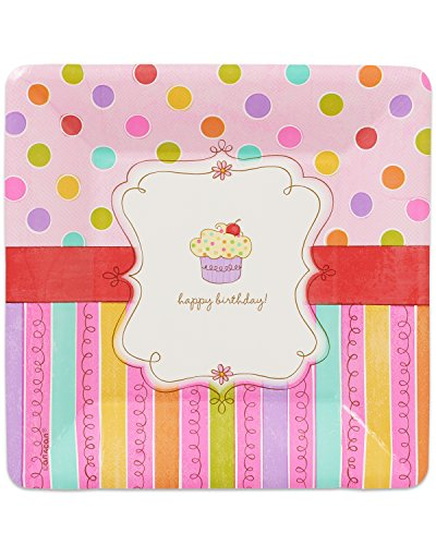 Amscan International 17,7 cm SWEET STUFF Papier Assiettes carrées, Lot de 8