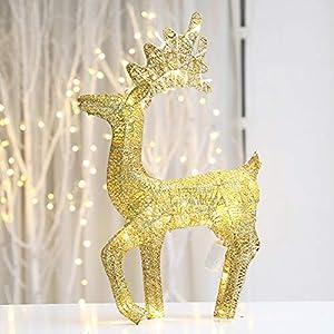 YANXS Navidad Metal Marco LED