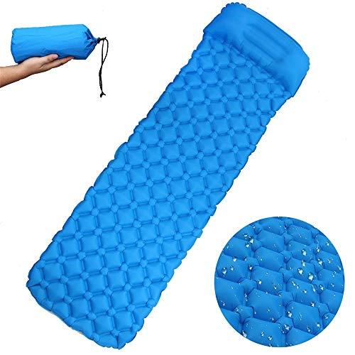 ZFH Isomatte Schlafende aufblasbare Luftunterstützungszelle Tragbare, hochwertige und langlebige Materialien Bequemes Kissen Einfach zu tragen Design,SkyBlue -