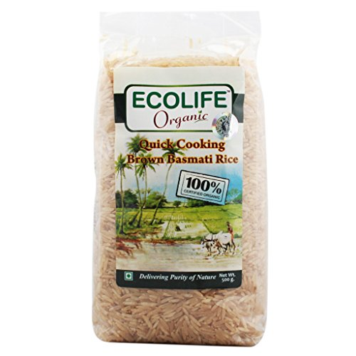 Ecolife Organic Quick cooking Brown Basmati Rice, 500g  available at amazon for Rs.62