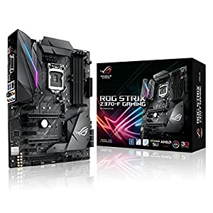 ASUS Intel 1151 Socket Z370 Chipset Strix F D4 ATX Motherboard - Black