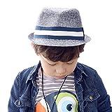 Cappelli di Paglia da Sole Cappello di Jazz Primavera Autunno Ragazzo Bambini cappello panama
