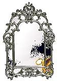 Wandspiegel Luxus - Handgefertigt 100% | Silber | Stil Barock | Rokkoko | Klassische | Massivholz