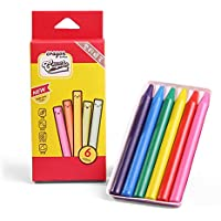 Classpack de 6 lápices a la Cera,crayones de Gel no tóxicos y Lavables para