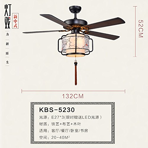 new-chinese-simple-living-room-dining-room-ceiling-fan-lights-led-retro-bedroom-fan-contact-fan-bird