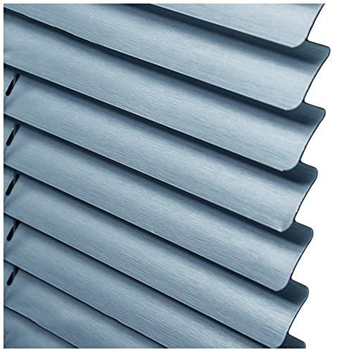 CHENHZ-Veneziana in alluminio,Punch Installazione Gratuita Impermeabile Finestra Orizzontale for Camera da Letto Soggiorno, Dimensioni Personalizzabili (Color : Blue, Size : 65x130cm)