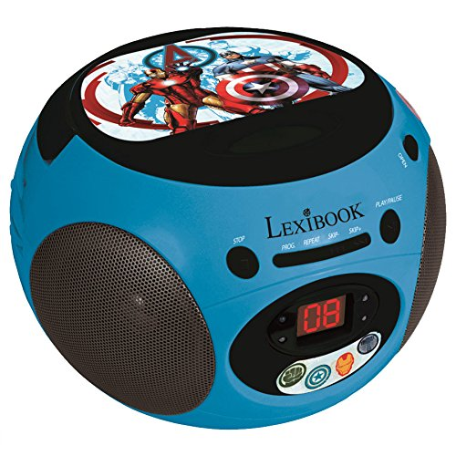 Lexibook RCD102AV - Avengers Radio CD Player, blau