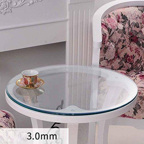 ZHOU Weiches Glas PVC Tischdecke Wasserfeste Tischset Runde Tischdecke, 3.0mm, diameter 120cm (Bankett-tisch Runde)