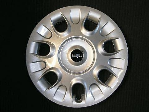 Mini 36136785977 Jante argent véritable avec logo mini pour roues 15