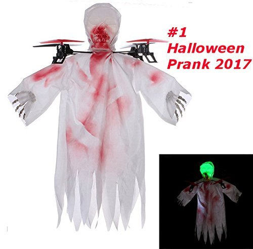 Top Race Halloween Ghost Drone, 6 Gyro 2.4 GHz Flying Ghost Quadcopter Drone Mejor broma de Halloween. TR-G1