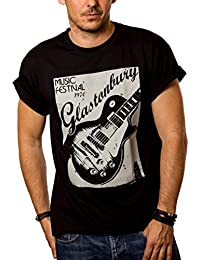 Cool Rock Band T-Shirt VINTAGE GUITAR Black S-XXXL