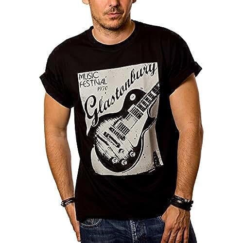 dia del orgullo friki Camisetas de Grupos de Rock - Glastonbury Guitarra
