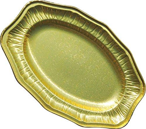 """14"""" Gold Regal Foil Platters (Pack of 10) Test"""