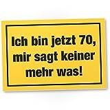 DankeDir! Ich Bin 70 Jahre, Kunststoff Schild - Geschenk 70. Geburtstag, Geschenkidee Geburtstagsgeschenk Siebzigsten, Geburtstagsdeko/Partydeko / Party Zubehör/Geburtstagskarte