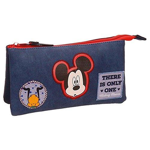 Disney-Trousse trois compartiments Mickey Parches