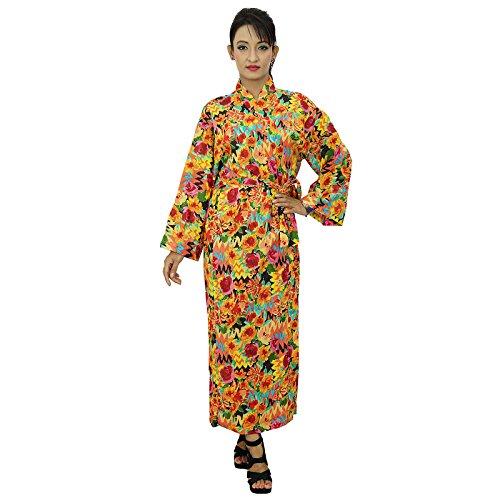 indische Gewänder Kimono Baumwolle Crossover robe Brautjungferngeschenk bereiten Mehrfarben-