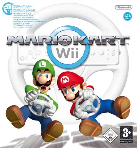 Gebraucht, Mario Kart Wii (inkl. Wii Wheel - Lenkrad) gebraucht kaufen  Wird an jeden Ort in Deutschland