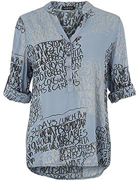Rcool Mujeres Irregular T-shirt Manga Larga Cuello Redondo Blusa Camisa Sólida