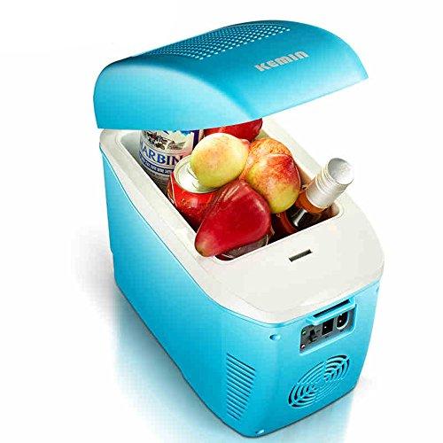 Bingxiang HAIZHEN Mini-Kühlschränke 7.5L Portable 6 kann Minikühlschrank-Kühler und Wärmer für Haus, Büro, Auto oder Boot AC & DC, Weiß - 110V 38W (Farbe : Blau) (110v Dc-heizungen)