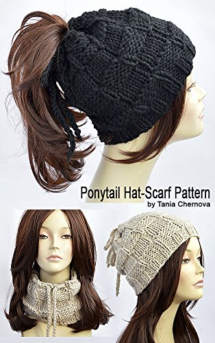 Ponytail Hat Pattern Knitting Pattern Ponytail Beanie Pattern Womens