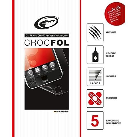 Crocfol PLUS HD 5K protector para el LG L40. Ultra claro con la superficie de autocuración (auto-reparación). Deslizante táctil 3D para el original LG L40. Made in Germany.
